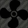 Helice de ventilation pour pac EVI AEHGF/28
