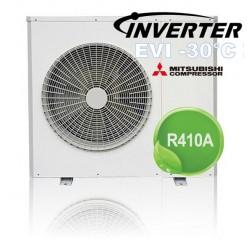AIR / WATER DC Inverter + EVI varmepumpe 9.5kW