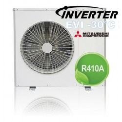 LUCHT / WATER DC-omvormer + EVI-warmtepomp 9.5kW