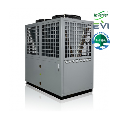 AIR / WATER DC Inverter + EVI varmepumpe 41kW