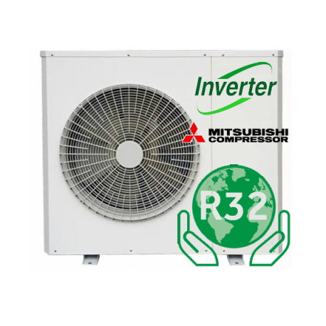 AIR / WATER DC Inverter R32 varmepumpe 12kW