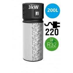 Όλα σε μία αντλία θερμότητας 3kW 200L R32