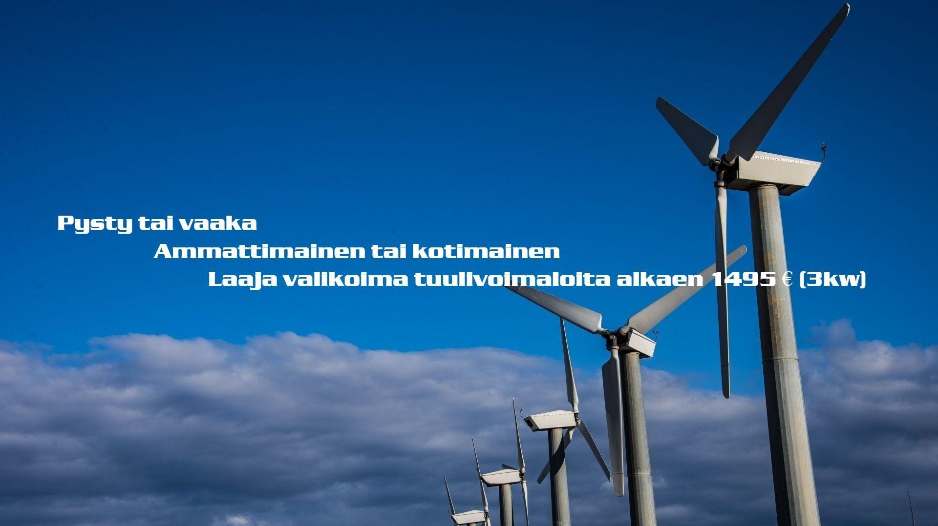 vaaka- ja pystysuunnassa tuuliturbiinien