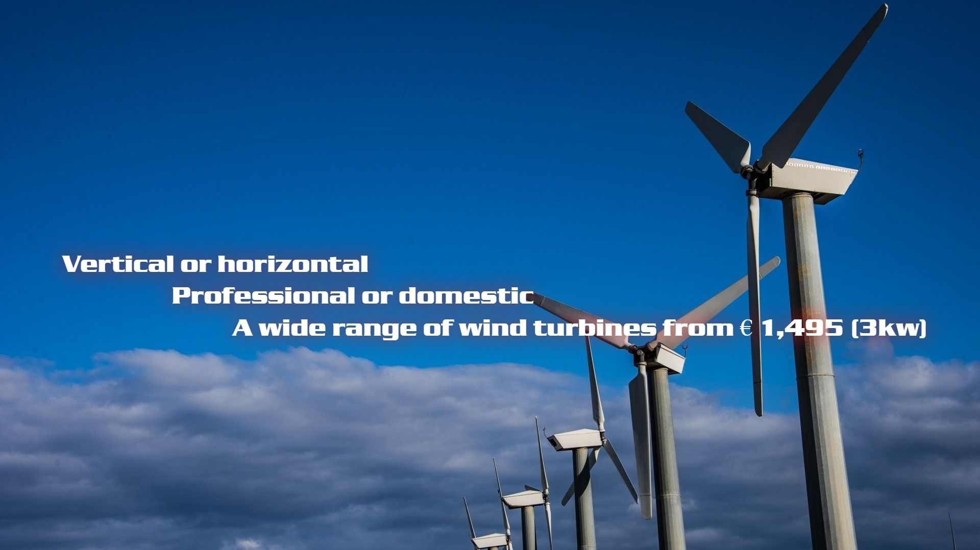 Horizontal and Vertical Wind Turbines Flexpro Industry