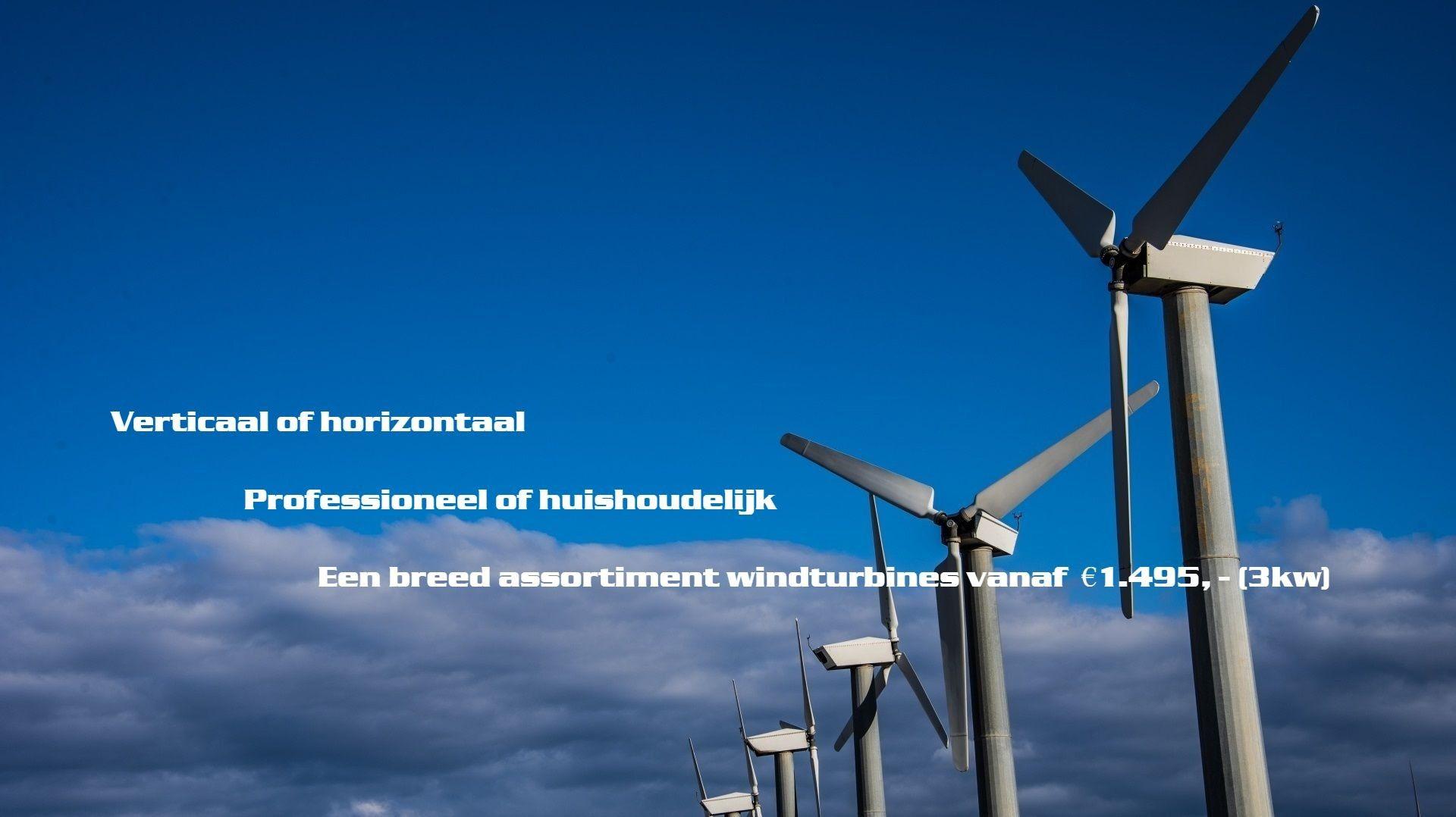 horizontale en verticale windturbines